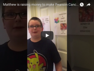 matthew raising money - pearson cancer center
